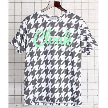 CLOAK Dogtooth Sublimation Print Hound T-Shirt