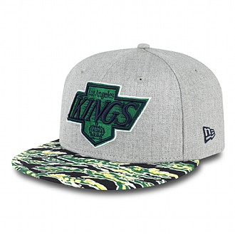 LA Kings green tiger print snapback