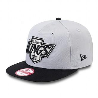 LA Kings Cotton Block Grey Black Snapback