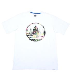 Adidas Originals Logo Graphic T Shirt White