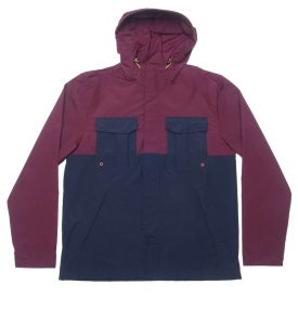 Adidas Originals Running Waterproof Jacket Legend Ink / Light Maroon