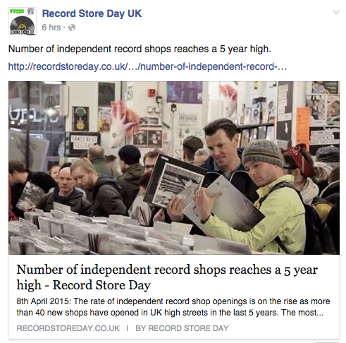 Independent record stores on the rise as vinyl sales soar