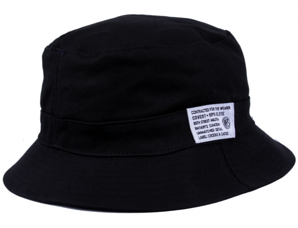 Crooks and Castles Regiment Reversible Bucket Hat Black only from Crooks Castles