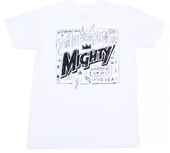 Mighty Healthy City Crown T Shirt White from Mighty Healthy