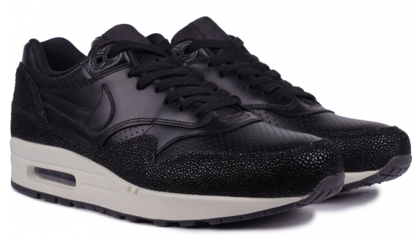Nike Air Max 1 Leather PA Black   Black   Sea Glass from Nike