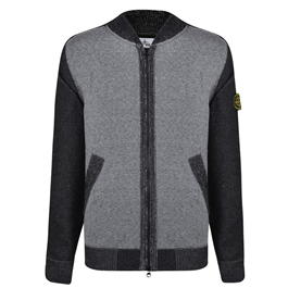 Stone Island Contrasting Knitted Bomber Jacket