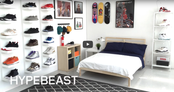 The Hypebeast x IKEA Sneakerhead bedroom shared by Heavie Dutie Style
